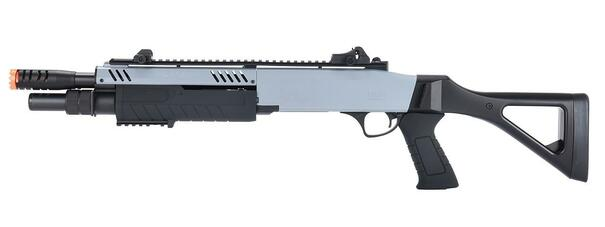 BO Manufacturer FABARM STF12 11 Barrel Pump Action Shotgun w/ Stock, Grey / Black