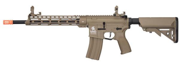 Lancer Tactical Enforcer Series BLACKBIRD Hybrid Gen 2 High FPS AEG Airsoft Rifle, Tan