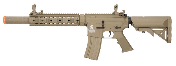 Lancer Tactical LT-15 M4 SD 9 Hybrid Gen 2 Low FPS AEG Airsoft Rifle, Tan