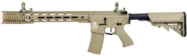 Lancer Tactical Interceptor SPR Hybrid Series High FPS AEG Airsoft Rifle, Tan