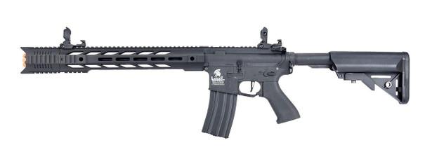 Lancer Tactical Interceptor SPR Hybrid Series High FPS AEG Airsoft Rifle, Black