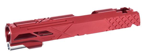 Airsoft Masterpiece Hi-Capa 5.1 / 1911 Custom X Standard Slide, Red