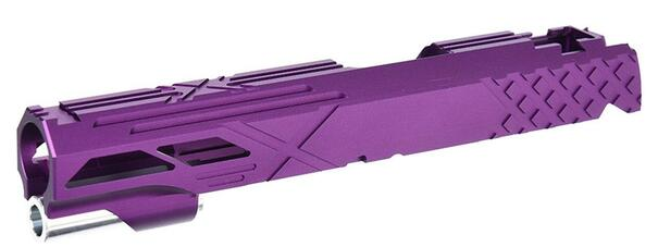 Airsoft Masterpiece Hi-Capa 5.1 / 1911 Custom X Standard Slide, Purple