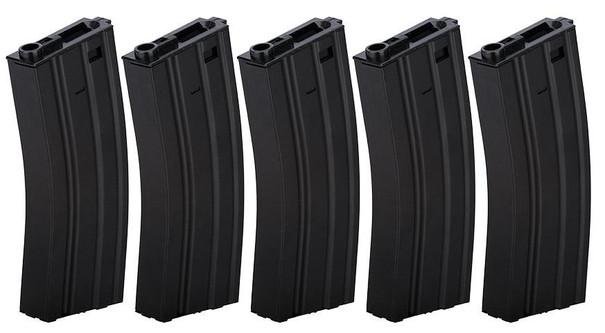 Lancer Tactical Gen 2 Metal 300rd High Capacity M4 Magazine 5-Pack, Black