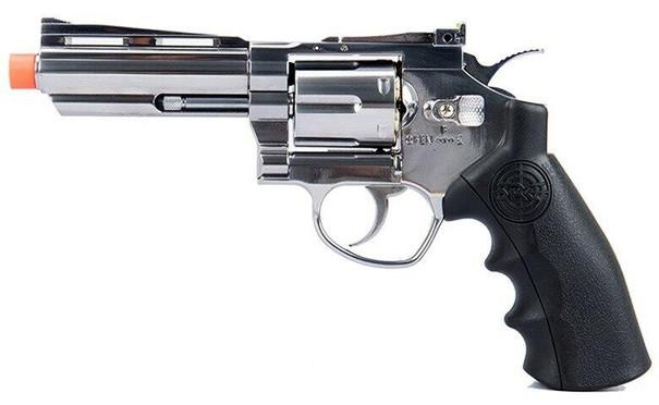 SRC Titan 4 Full Metal Co2 Airsoft Revolver, Silver