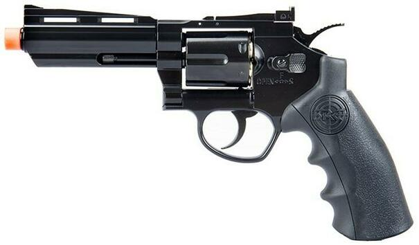 SRC Titan 4 Full Metal Co2 Airsoft Revolver, Black