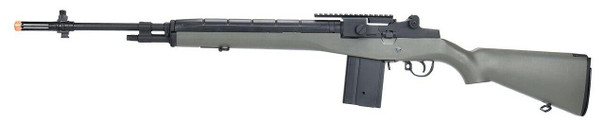 AGM M14 SOCOM DMR AEG Airsoft Rifle w/ Battery and Charger, OD Green