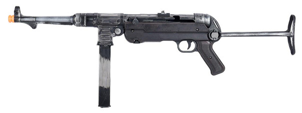 BO Manufacturer WWII Overlord Series MP40 Electric Blowback Airsoft SMG, Weathered Steel