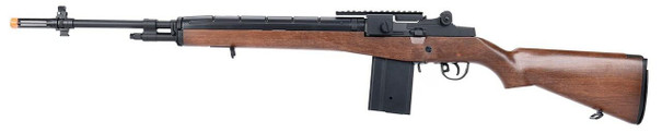 AGM M14 SOCOM DMR AEG Airsoft Rifle w/ Battery and Charger, Faux Wood