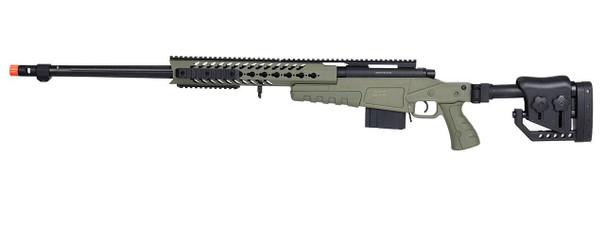 WellFire MB4418-2 Bolt Action Airsoft Sniper Rifle, OD Green