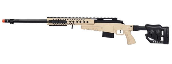WellFire MB4418-2 Bolt Action Airsoft Sniper Rifle, Tan
