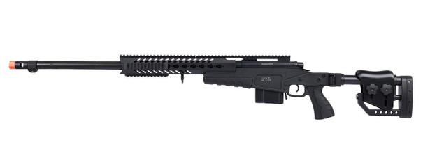 WellFire MB4418-2 Bolt Action Airsoft Sniper Rifle, Black