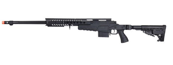 WellFire MB4418-1 Bolt Action Airsoft Sniper Rifle, Black