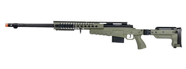 WellFire MB4418-3 Bolt Action Airsoft Sniper Rifle, OD Green