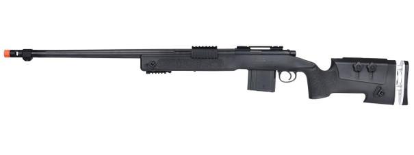 WellFire MB4417 M40A3 Bolt Action Airsoft Sniper Rifle, Black