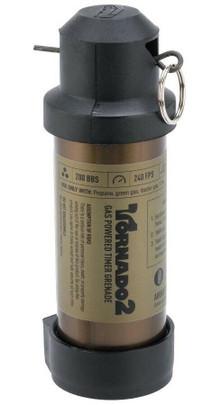 Airsoft Innovations Tornado 2 Timer Frag Grenade, FDE