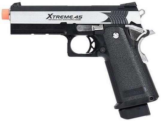 Tokyo Marui Hi-Capa XTreme .45 Full Auto Gas Blowback Airsoft Pistol, Black