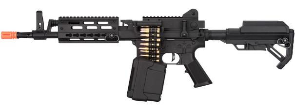 Golden Eagle MCR Short Barrel LMG Airsoft Rifle, Black