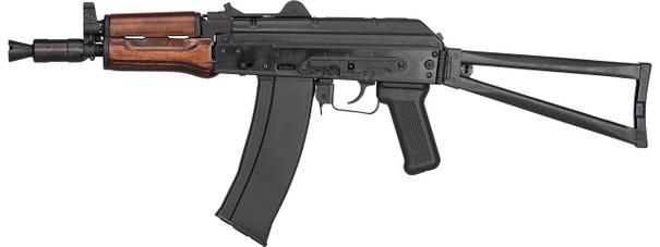 GHK AK GKS74U Gas Blowback AK74U Airsoft Rifle, Black / Wood