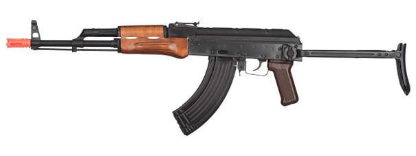 GHK AK GKMS Gas Blowback AKMS Airsoft Rifle, Black / Wood