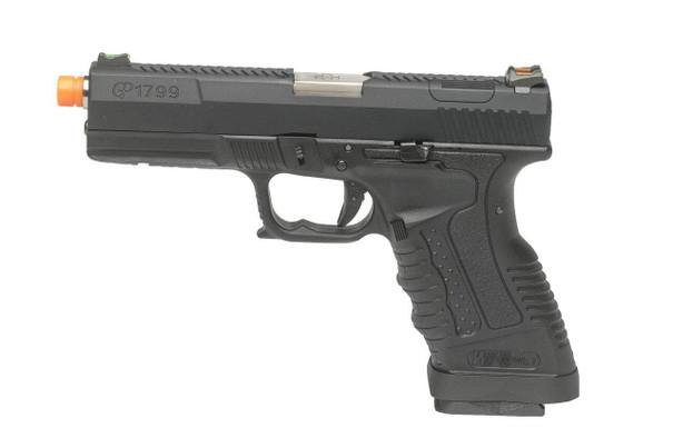 WE Tech GP1799 T1 Gas Blowback Airsoft Pistol, Black / Silver
