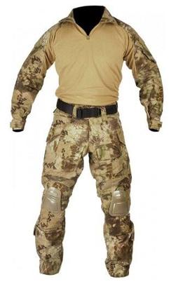 Jagun Tactical Airsoft Combat Uniform BDU Pants and Shirt Set, HLD Camo