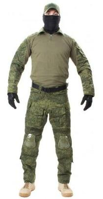 Jagun Tactical Airsoft Combat Uniform BDU Pants and Shirt Set, Digital Flora