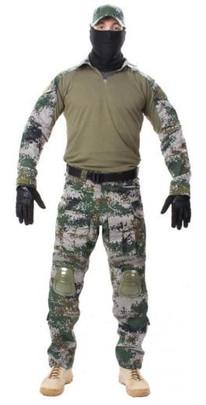 Jagun Tactical Airsoft Combat Uniform BDU Pants and Shirt Set, PLA Type 07