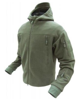 Condor Outdoor Tactical Sierra Hooded Fleece Jacket #605, OD Green