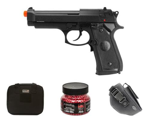 Beretta 92FS Electric Airsoft Pistol Gift Package w/ Holster, Gun Case and BBs