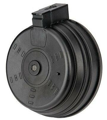 Sentinel Gears 3500rd AK Style Auto Winding Drum Magazine, Black