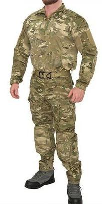 Lancer Tactical Rugged Combat Uniform Set w/ Soft Shell Padding, Modern Camo