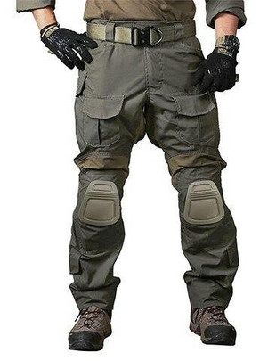 Emerson Gear Blue Label Combat BDU Tactical Pants w/ Knee Pads, Ranger Green