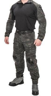 Lancer Tactical Combat Tactical Uniform Set, Camo Black