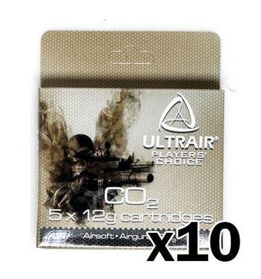 ULTRAIR 12G CO2 Cartridges, 50 Pack