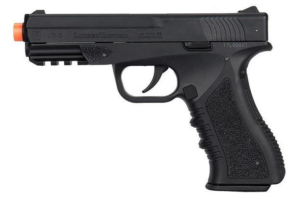 Lancer Tactical Defender LTX-3 Co2 Half-Blowback Airsoft Pistol, Black