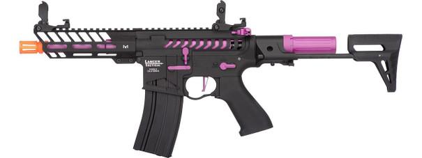 Lancer Tactical ProLine Series NEEDLETAIL PDW High FPS AEG Airsoft Rifle, Black / Purple