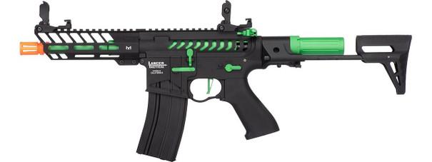 Lancer Tactical ProLine Series NEEDLETAIL PDW High FPS AEG Airsoft Rifle, Black / Green