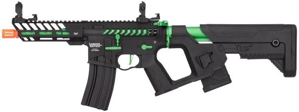 Lancer Tactical Enforcer Series NEEDLETAIL High FPS AEG Airsoft Rifle w/ Alpha Stock, Black / Green
