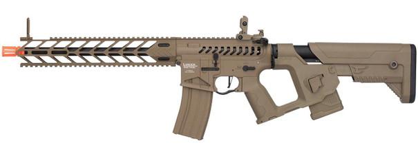 Lancer Tactical Enforcer Series NIGHT WING Skeleton ProLine Low FPS AEG Airsoft Rifle, Tan