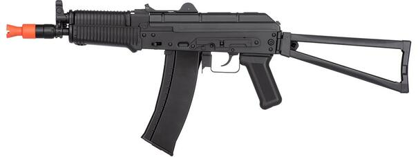 WellFire AK74U Gas Blowback Airsoft Rifle, Black