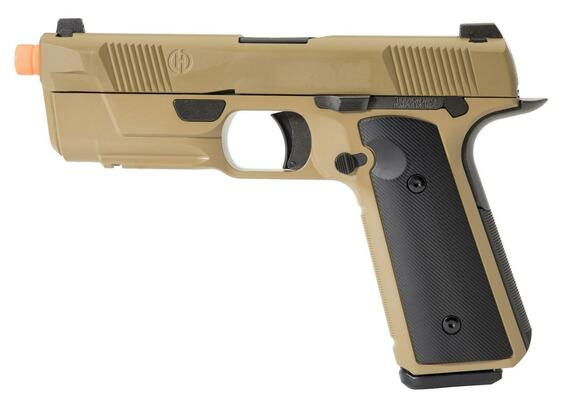 EMG Hudson Licensed H9 Gas Blowback Airsoft Parallel Training Weapon, Dark Earth