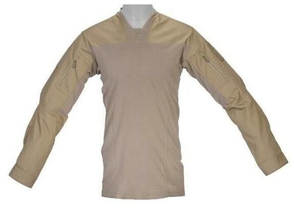 Lancer Tactical TLS Halfshell Shirt, Tan