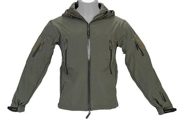 Lancer Tactical Soft Shell Jacket w/ Hood, Sage