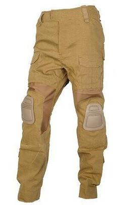 UK Arms Tactical Combat Uniform BDU Pants w/ Knee Pads, Coyote Brown