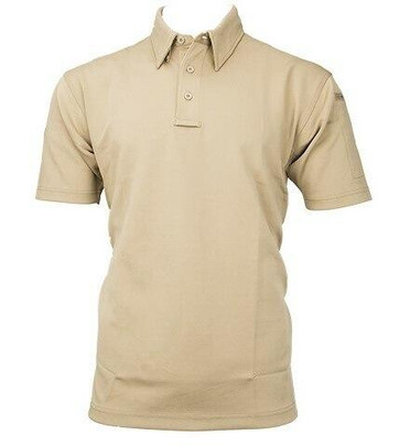 Propper Mens ICE Performance Short Sleeve Polo Shirt, Silver Tan