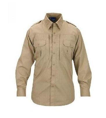 Propper Ripstop Reinforced Tactical Long Sleeve Shirt, Khaki