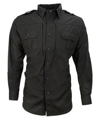 Propper Ripstop Reinforced Tactical Long Sleeve Shirt, Black