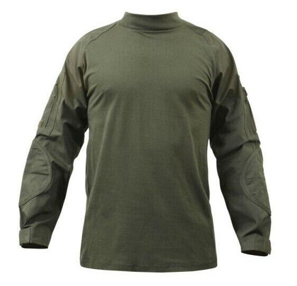 Rothco Military Combat Shirt w/ Reinforced Elbows, OD Green