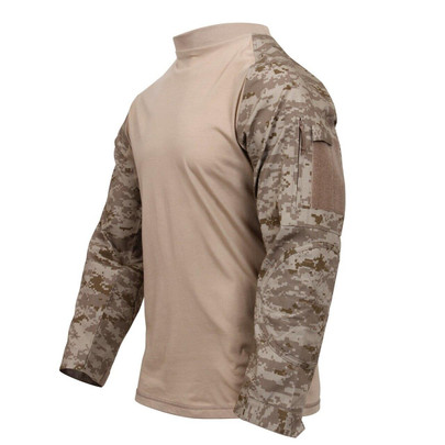 Rothco Military Combat Shirt w/ Reinforced Elbows, Desert Digital